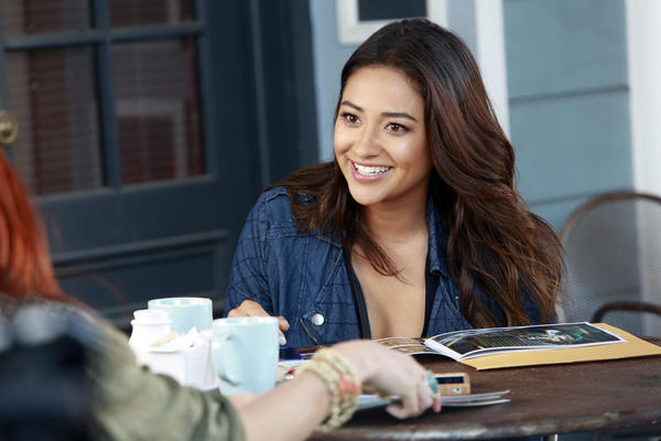 "Emily Fields, played by Shay Mitchell, in ""The Guilty Girl's Handbook."""