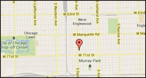 Map of location where a 15-year-old boy was stabbed in his back on the South Side.