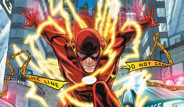 "The Flash, drawn here by Francis Manapul, will make some appearances on the CW's ""Arrow"" next season, but he'll start as his not-so-fast alter-ego, Barry Allen."