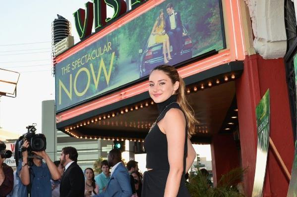 "Shailene Woodley arrives at a screening of ""The Spectacular Now"" at the Vista Theatre."