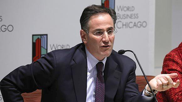 Grosvenor Capital Chief Executive Michael Sacks at a World Business Chicago board meeting in 2012.