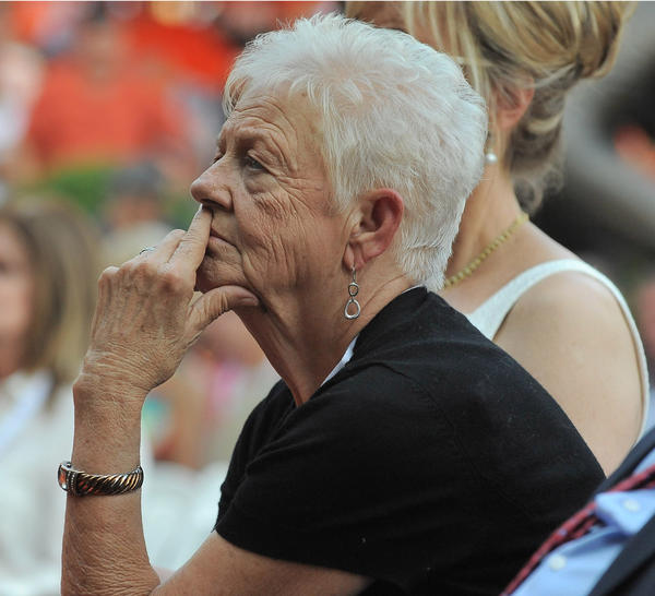 Cal Ripken Jr.'s mother Vi attends the ceremony.