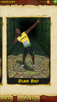 "Usain Bolt has been added as a playable character in ""Temple Run 2."""