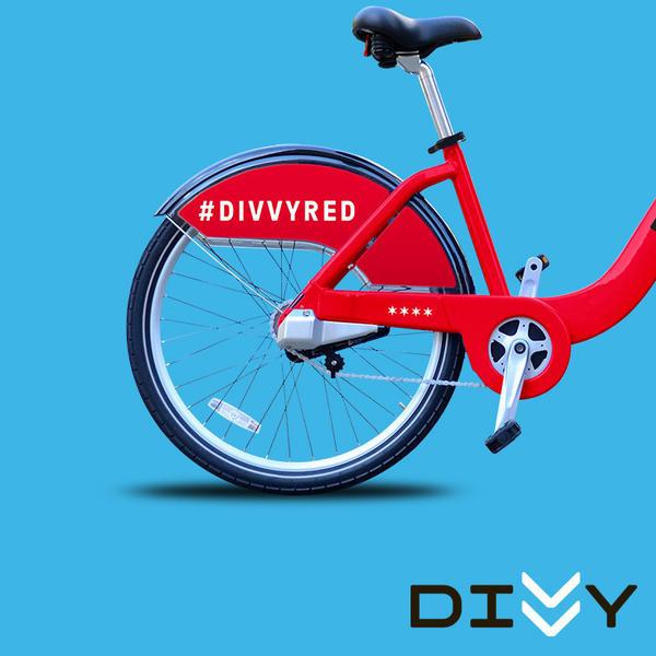 Divvy red bike