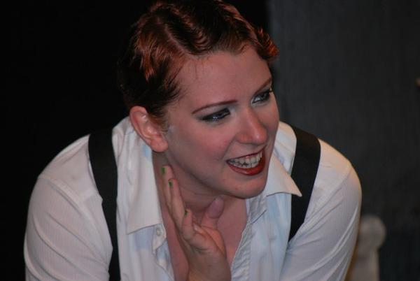 "Lora Dorothy Massey is Sally Bowles in the Breakthrough Theatre production of ""Cabaret."""