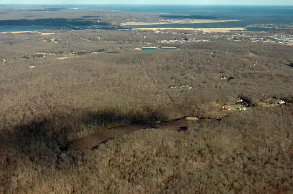 In Old Saybrook the 1,000 acre Preserve property (foreground), a pristine tract of coastal forest, may finally be protected under a deal orchestrated by The Trust for Public Land, saving it from development.