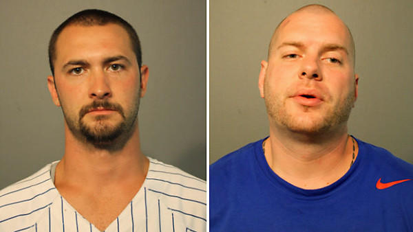 Robert J. Hack, 28, of the 8900 block of North Ozanam Avenue, and Jonathan David Koziol, 29, of the 3500 block of North Linder Avenue are accused of stealing bats from the stadium Tuesday. Both were charged with felony retail theft.