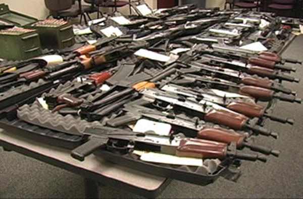AK-47 rifles with a more easily concealed pistol grip were destined for Mexico when they were seized from weapons traffickers in Yuma, Ariz., in 2008. Arizona is one of only four states where a federal law requires report of multiple purchases of semiautomatic weapons by a single person.