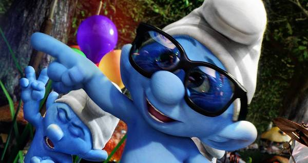 "Smooth Smurf (Shaquille O'Neal) in ""The Smurfs 2."""