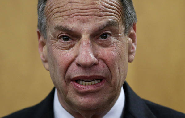 San Diego Mayor Bob Filner speaks during a news conference at city hall. Filner said he will undergo therapy after less than a year in office amid allegations that he sexually harassed women.
