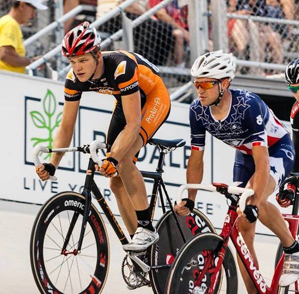 Jackie Simes of New Tripoli and two-time U.S. Olympian Bobby Lea of Mertztown will compete in the Hollywood Championship Cycling event Oct. 11-13, a 6-Day style race that will be held at the StubHub Event Center in Carlsbad, Calif. near Los Angeles.