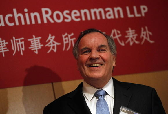 Former Mayor Richard Daley appears at an event for the launch of Katten Muchin's Shangai office Wednesday, Feb. 22, 2012.