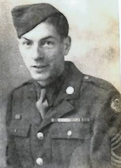 Charles Butler was an aircraft mechanic in the military. Overseas in England he would fix B-17's and other aircrafts that were returning from bombing runs.