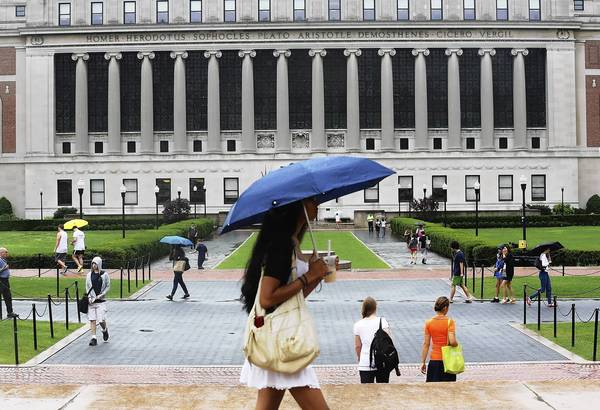 Columbia University in New York. Both Democrats and Republicans hailed the compromise on student loan rates, which bases them on the market.