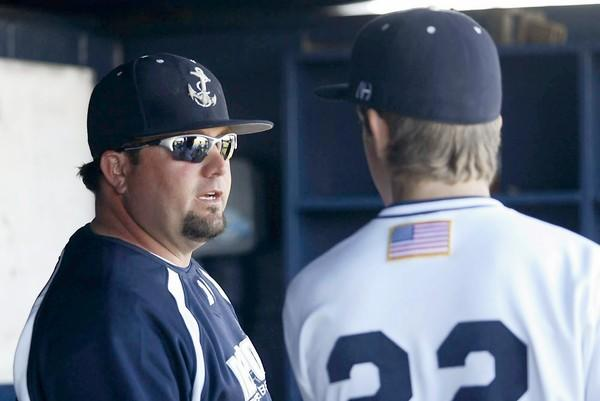 Patrick Murphy, left, the Newport Harbor High baseball coach, is excited for his son (not pictured), who will begin play in the Bronco World Series Thursday.