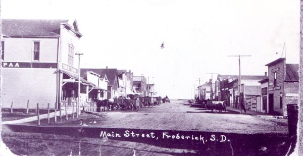 This photo shows Frederick's Main Street in about 1915.