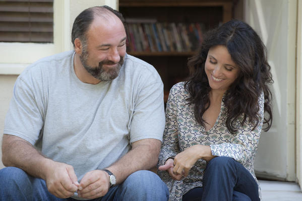 "James Gandolfini and Julia Louis-Dreyfus star in ""Enough Said,"" which will premiere at the Toronto International Film Festival in September."