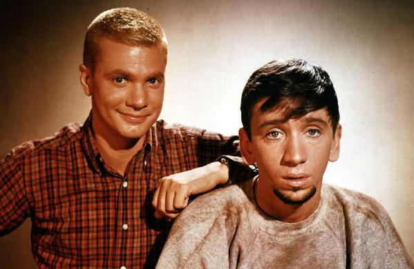 """Dwayne Hickman and Bob Denver as Dobie Gillis and Maynard G. Krebs in """"The Many Loves of Dobie Gillis,"""" whose four seasons have been released on DVD by Shout Factory."""