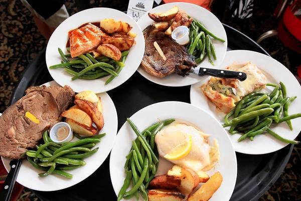 The Barbara-Lee menu includes prime rib, chicken cordon bleu, salmon and vegetable lasagna.