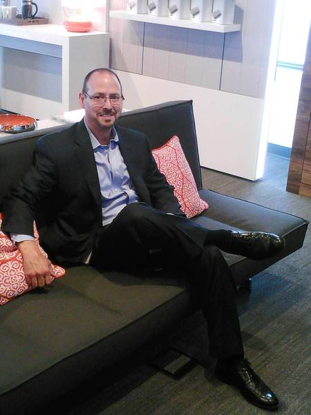 La Grange is the debut location for a new style of store that David Fine of AT&T said will feel more like someone's home.