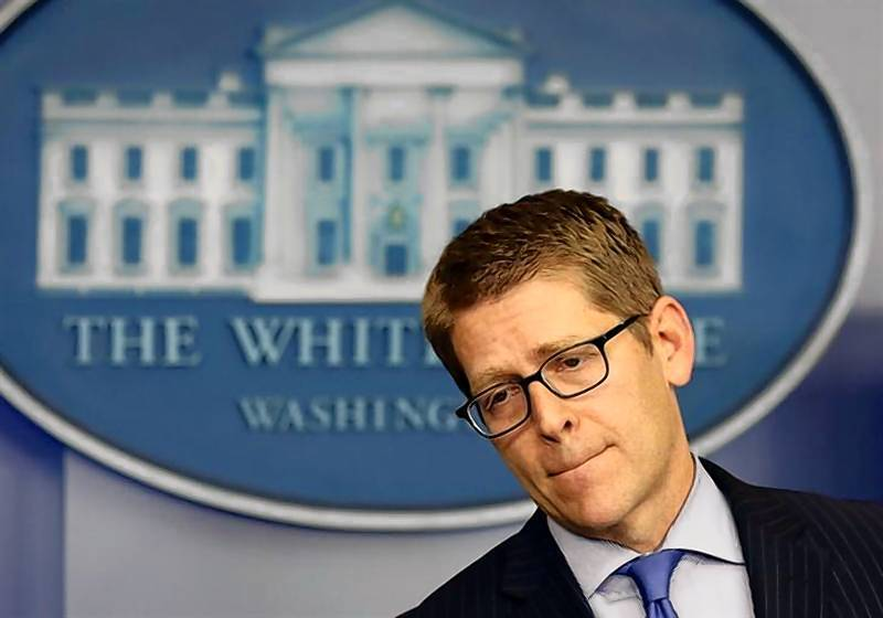 White House Press Secretary Jay Carney answers questions at the White House in Washington.