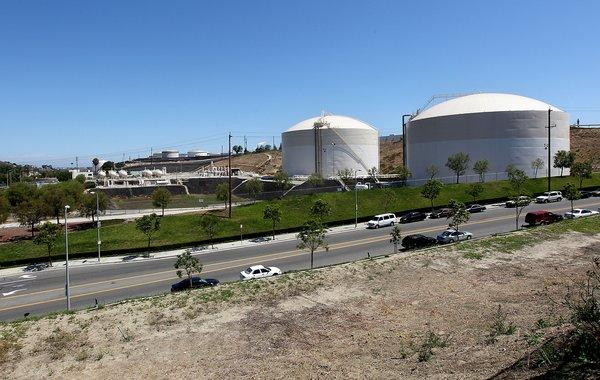 One of the nation's largest above-ground storage facilities for liquified petroleum gas is located off North Gaffey Street in San Pedro.