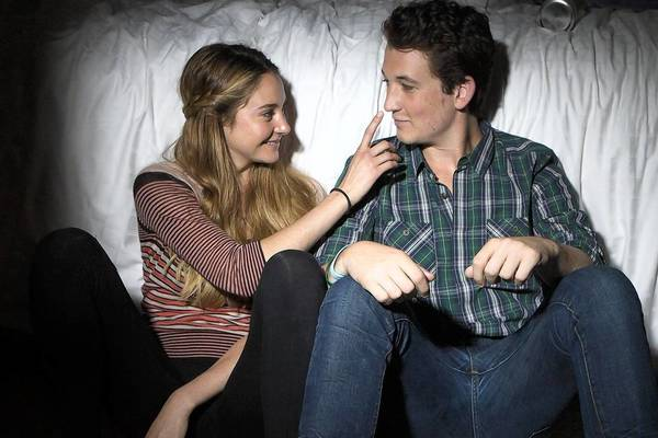 "Shailene Woodley and Miles Teller star in the ""Spectacular Now."""