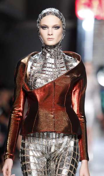 A look from Paco Rabanne's spring and summer 2012 women's ready-to-wear runway show during Paris Fashion Week. The French fashion house has announced the appointment of Julien Dossena as its new creative director of women's ready-to-wear.