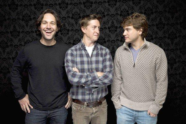 "Actor Paul Rudd, left, director David Gordon Green and actor Emile Hirsch of the film ""Prince Avalanche."""