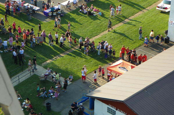 This is an aerial view of the Somerset Night Out in 2012. This year's event is set for 6 p.m. Tuesday.