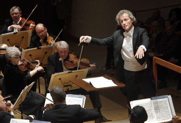 Franz Welser-Most conducting the Cleveland Orchestra at the Renee and Henry Segerstrom Concert Hall in Costa Mesa in 2012.