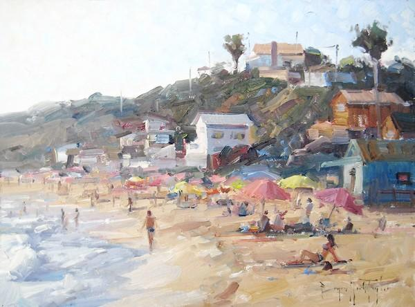 "Bryan Mark Taylor's ""Beach Party, Crystal Cove."""