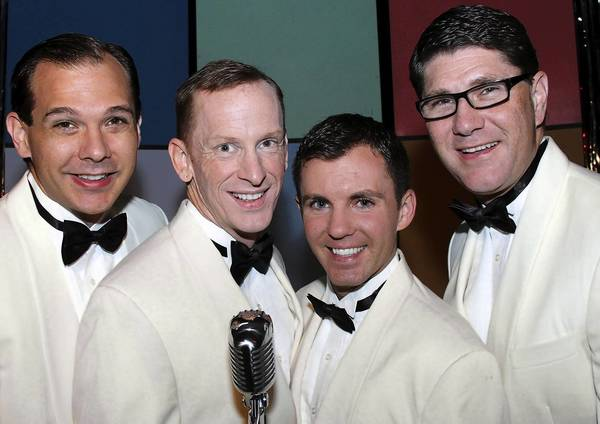 """Michael Swickard (from left), Kevin Kelly, Nick Rishel and Todd Allen Long star in """"Forever Plaid."""""""