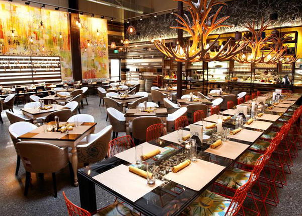 The look of Cucina Enoteca in Irvine is similar to the new location opening next year in Newport Beach where furniture and other interior decorations will be on sale in addition to food and wine.