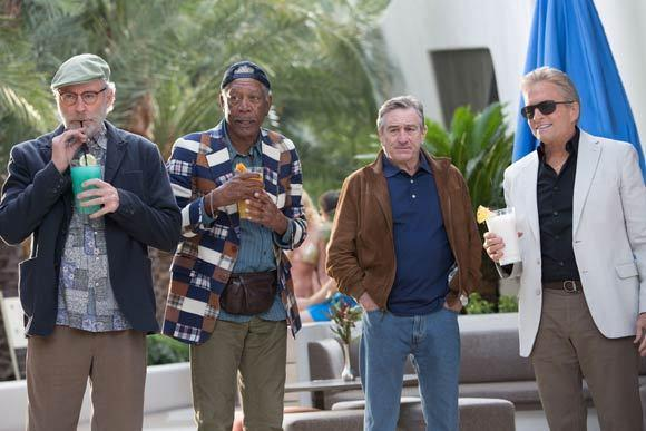 "Kevin Kline, Morgan Freeman, Robert De Niro and Michael Douglas star in CBS Films' comedy ""Last Vegas."""