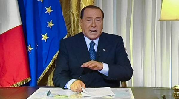 Former Italian Prime Minister Silvio Berlusconi responds to the high court's decision in a video. The verdict may signal the unwinding of his colorful political career and could also undermine Italy's fragile coalition government.