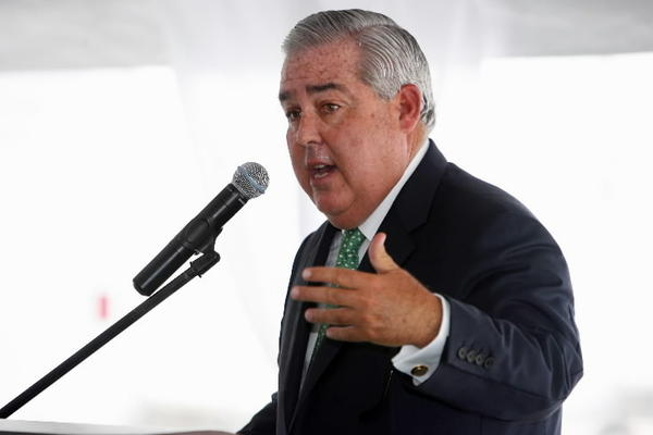 Attorney John Morgan at an event for Second Harvest Food Bank's new headquarters in May 2012.