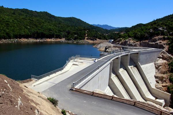 The Rizzanese hydroelectric dam on France's southern Mediterranean island of Corsica, .