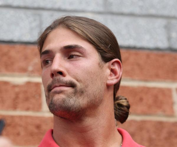 "Eagles wide receiver Riley Cooper talks with the media, apologizing for a using a racial slur, at the NovaCare Complex in Philadelphia on Wednesday. ""What I did was wrong and I will accept the consequences,"" Cooper said."