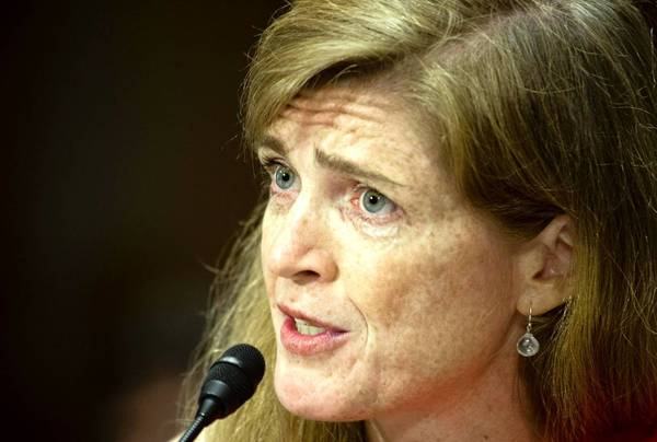 Samantha Power, before a Senate panel last month, was confirmed by a vote of 87 to 10.