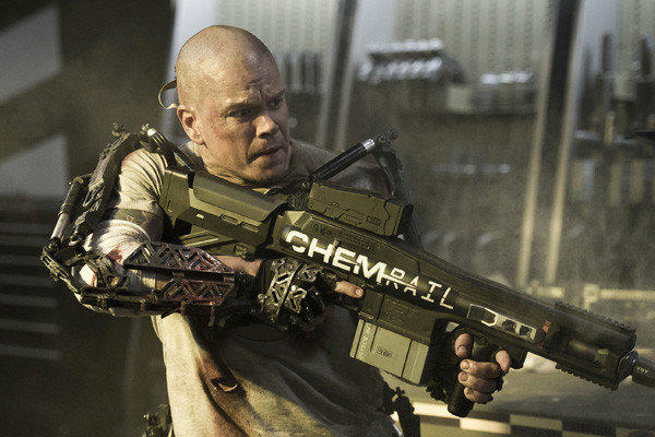 Matt Damon stars in 'Elysium'