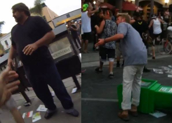 Huntington Beach police are asking the public's help to identify these two good Samaritans who were reportedly assaulted during the U.S. Open of Surfing disturbance.