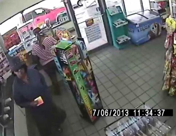 Two women and a man are being sought for a distraction theft at an Oakland Park gas station that netted over $7,000