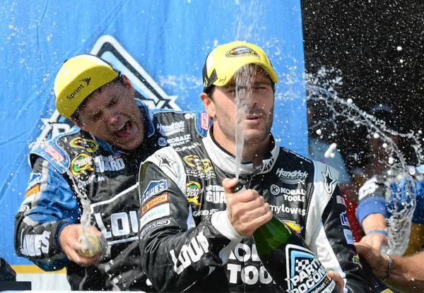 Jimmie Johnson domnated en route to winning the Party in the Poconos 400 at Pocono Raceway in June.