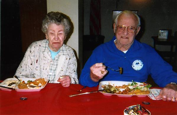 John Wrana and his wife, Helen in 2005. Helen died in 2005.