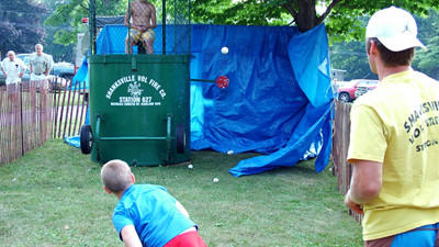 An unidentified boy tries his hand at a dunk tank at the Shanksville Community Picnic. This year's picnic will be held Saturday at the Shanksville grove.