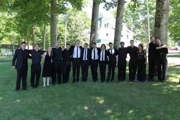 The Bay View Music Festival student brass group will play noon Tuesday, Aug. 6, in the park in downtown Petoskey.