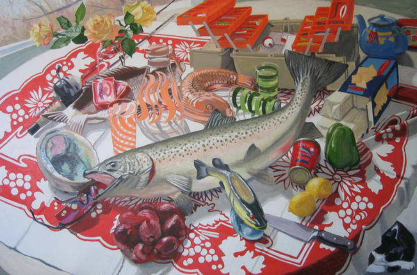 Big Fish, oil on canvas, 30 x 40.