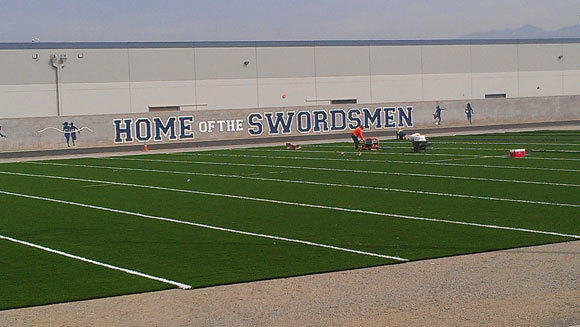Santa Fe Springs St. Paul has a new all-weather turf football field.