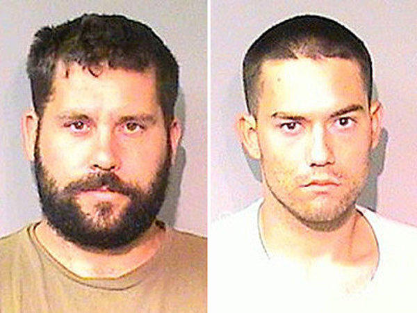 Ryan Balletto, left, and Patrick Pearmain allegedly kept a Los Angeles-area girl in a metal box on a Lake County property and sexually abused her.